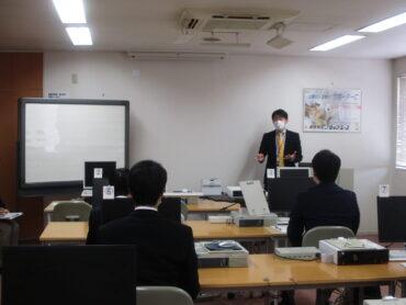 第1回会社訪問会の様子(3月29日)