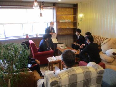 第2回会社訪問会の様子(4月2日)